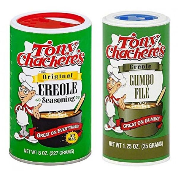 Tony Chacheres No MSG Cajun Creole Seasoning Bundle - 1 each of...
