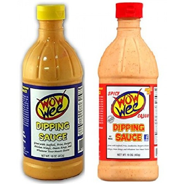 Wow Wee Dipping Sauce Bundle - One each of Original 16 Ounce and...