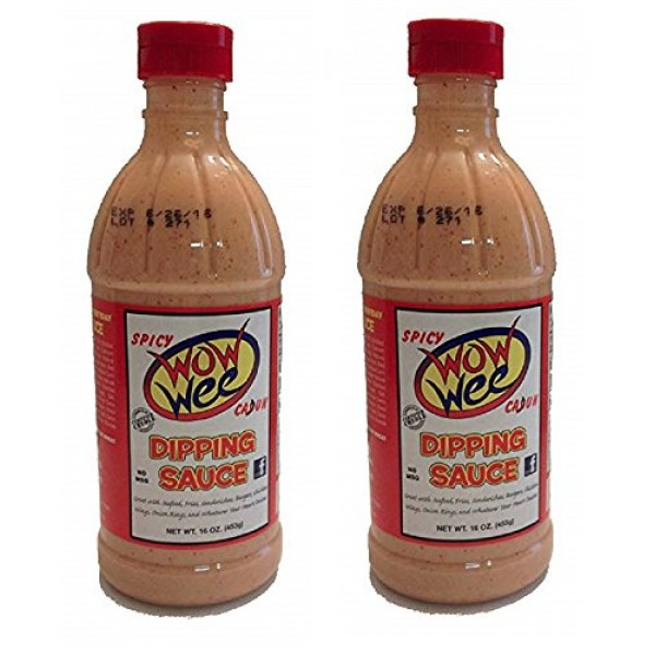 Wow Wee Spicy Cajun Dipping Sauce, 16 Fluid Ounce Bottle Pack o...