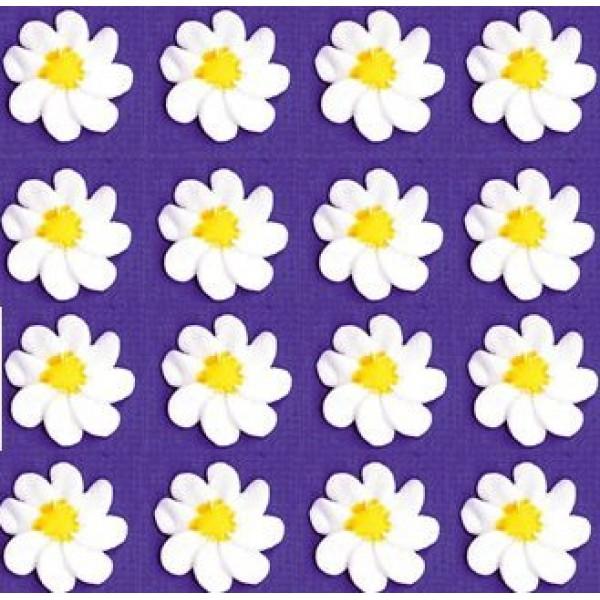 24pk Elegant White Daisy Blossoms Wedding / Special Occasion Cak...