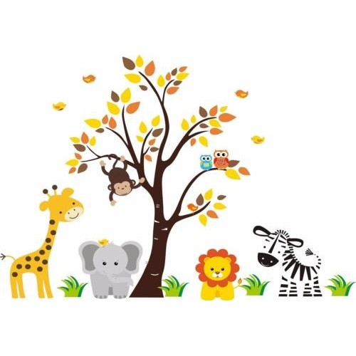 CAKEUSA JUNGLE SAFARI ANIMALS Baby Shower IdeaBirthday Cake Topp...