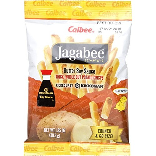 Calbee Jagabee Butter Soy Potato Sticks, 1.4 Ounce Pack of 8