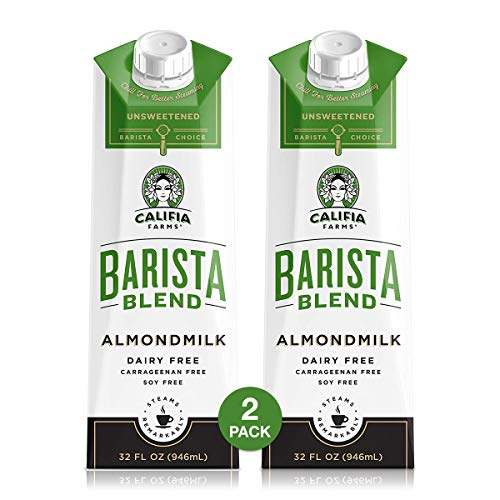 Califia Farms Barista Blend Almond Milk, Unsweetened, 32 Ounce ...