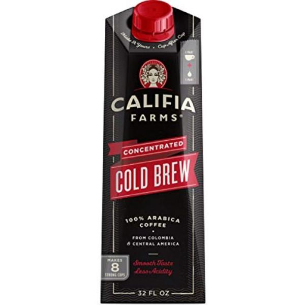 Califia Farms - Cold Brew Coffee Concentrate, Unsweetened, 32 oz...