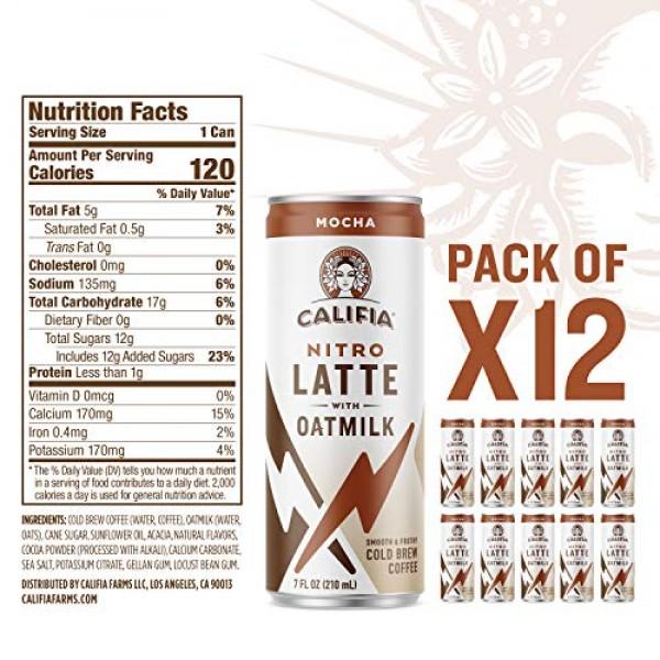 Califia Farms - Nitro Cold Brew Coffee, Oat Milk Latte - XX Espr...