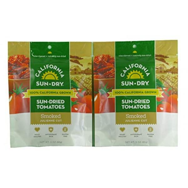 California Sun-Dry Smoked Sun Dried Tomatoes Julienne Cut, 3-O...