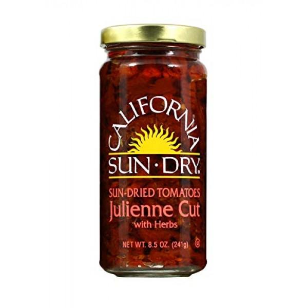 California Sun Dry Sun-dried Julienne Cut Tomatoes with Herbs 8....