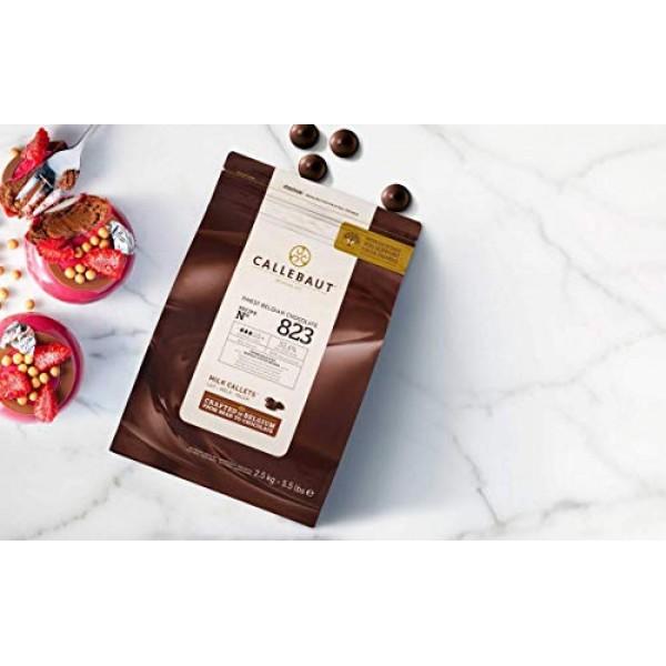 Belgian Milk Chocolate Baking Callets Chips - 33.6% - 1 bag, 5...
