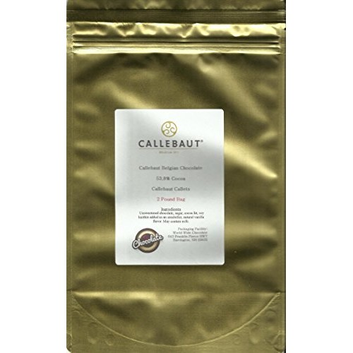 Callebaut Chocolate Callets Semisweet (small discs) 53.8% cacao ...