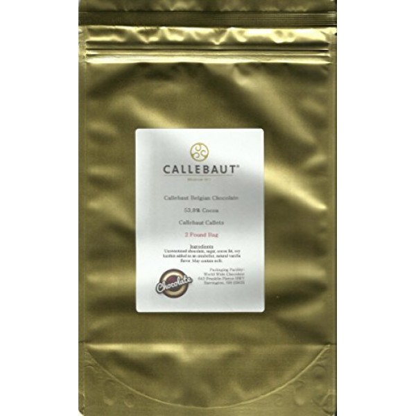 Callebaut Chocolate Callets Semisweet small discs 53.8% cacao ...