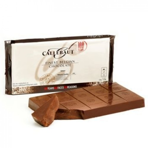 Callebaut Chocolate Block Milk 33.6% cacao 5 kilo / 11 lbs