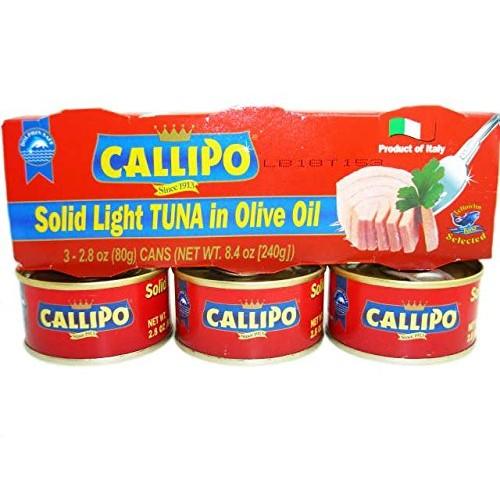 Italian Canned Tuna in Olive Oil Callipo 2.8 Oz Pack of 9