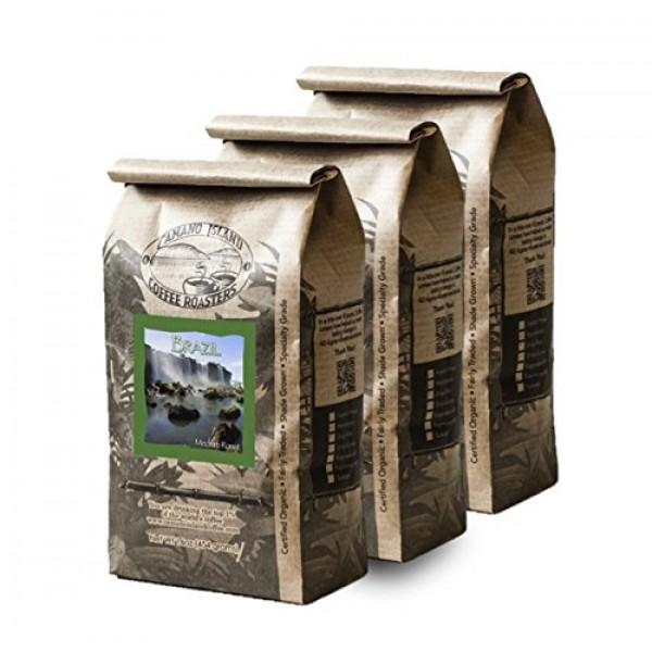Camano Island Coffee Roasters - Organic Brazil Medium Roast Coff...