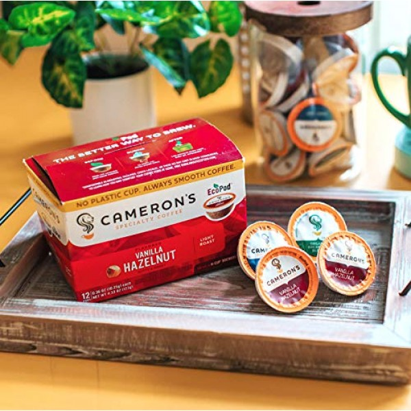 Camerons Coffee Single Serve Pods, Flavored, Toasted Southern P...