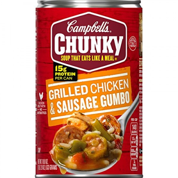 Campbells Chunky Grilled Chicken & Sausage Gumbo, 18.8 oz. Can ...