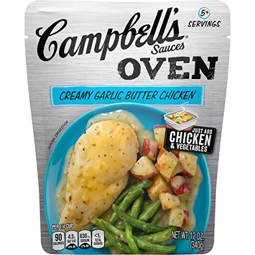 Campbells Oven Sauce, Creamy Garlic Butter Chicken, 12 oz