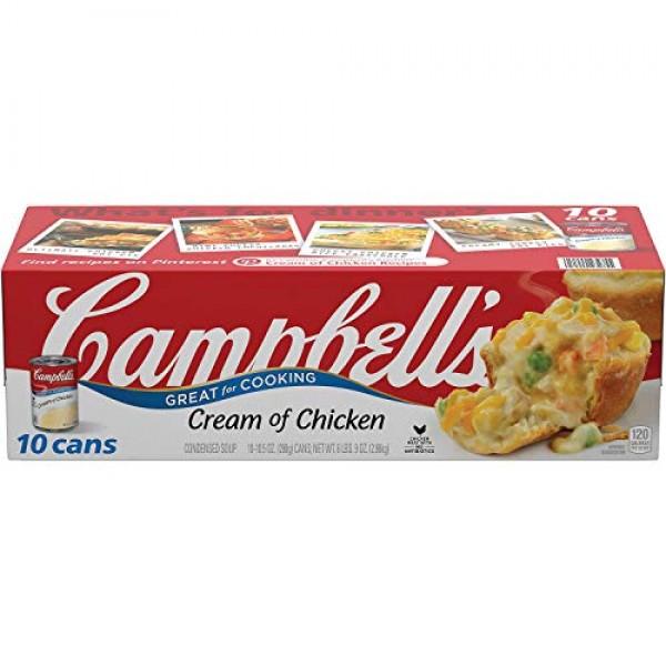 Campbells 10 Piece Condensed Cream of Chicken Soup, 6 Pound