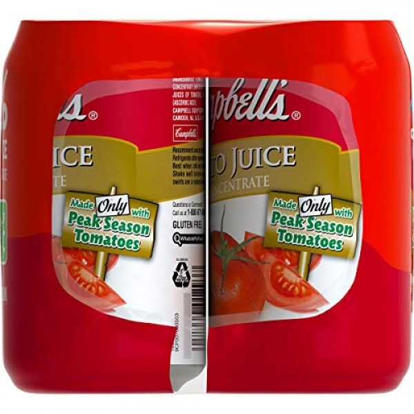 Campbells Tomato Juice, 11.5 oz. Can, 6 Count Pack of 4
