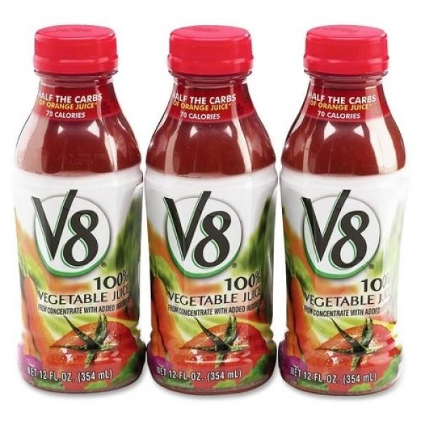 V8 Vegetable Juice, 12 oz. plastic bottle 12 pack