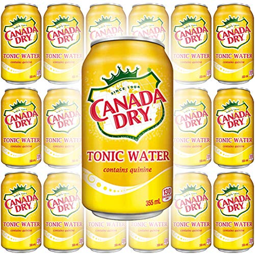 Canada Dry Tonic Water, 12oz Can Pack of 18, Total of 216 Oz
