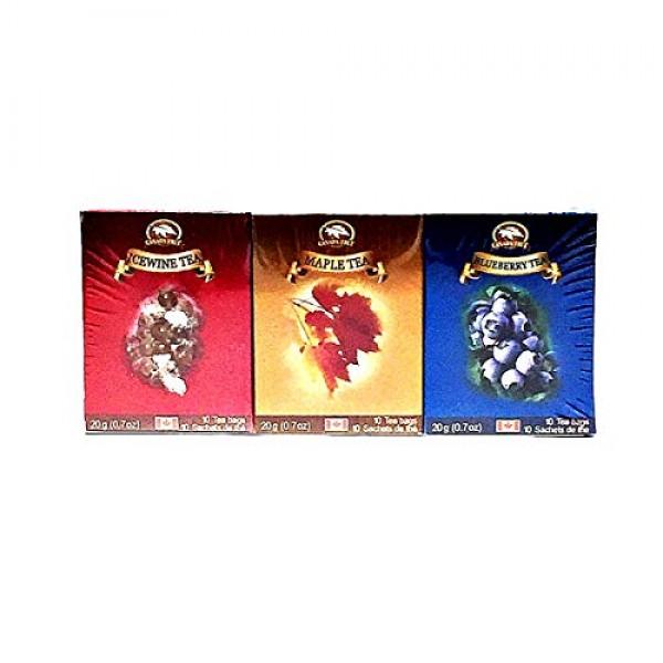CANADA TRUE premium Ceylon 3 Bundle TeaMaple,Blueberry,Icewine...