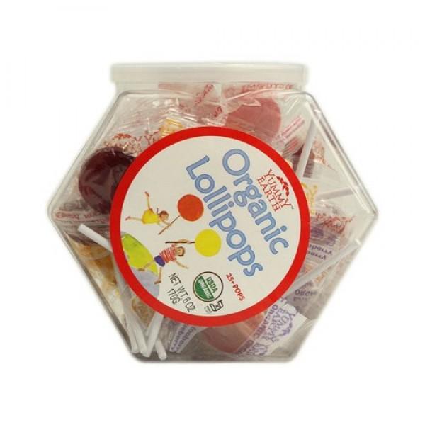 Yummy Earth Organic Lollipops Assorted Personal Bin - 6 oz - Cas...