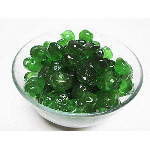 Candied Glazed Green Cherries. 16 oz bag