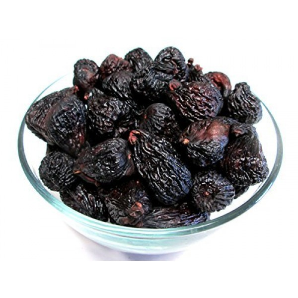 Dried Black Mission Figs, 5 pound bag, US Grown