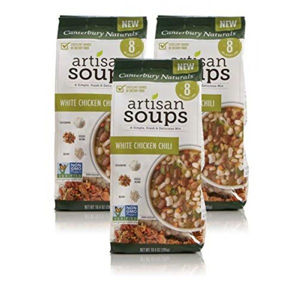 Canterbury Naturals Artisan Soup Mix, White Chicken Chili, 10.4 ...