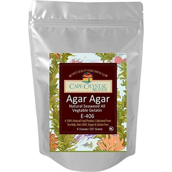 Agar Agar Powder | Vegan Gelatin Dietary Fiber Supplement - Vega...