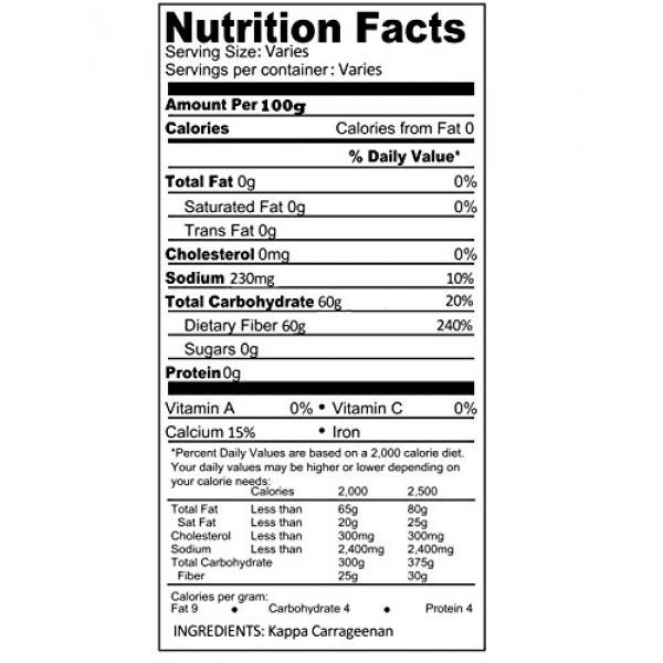 Kappa Carrageenan Powder | Food Grade Natural Thickener Substitu...