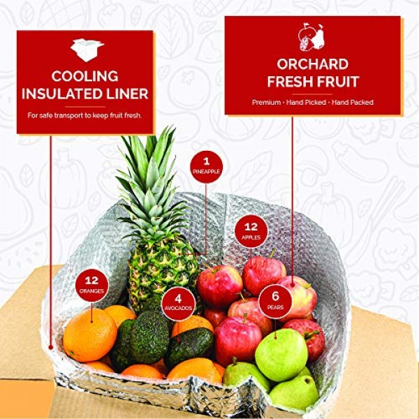 Gourmet Fruit Basket, 15 Lbs Mixed Fruit Pack with Farm Produc...