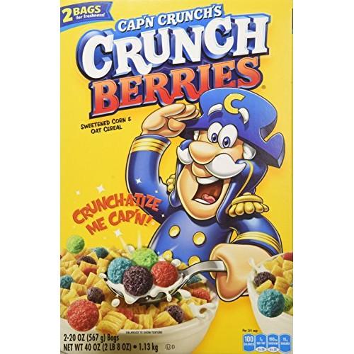 Capn Crunch Berries Breakfast Cereal, 40 Ounce