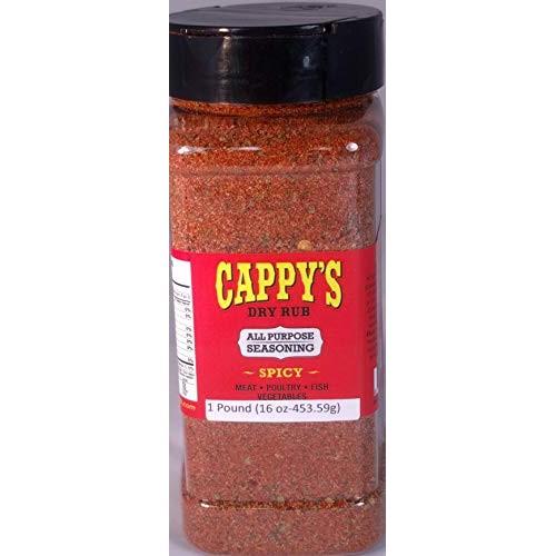 Cappys Dry Rub Gourmet Spice Blend - Spicy 16oz