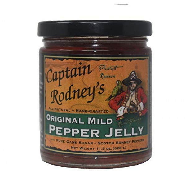 Captain Rodneys Mild Pepper Jelly with Scotch Bonnet Peppers