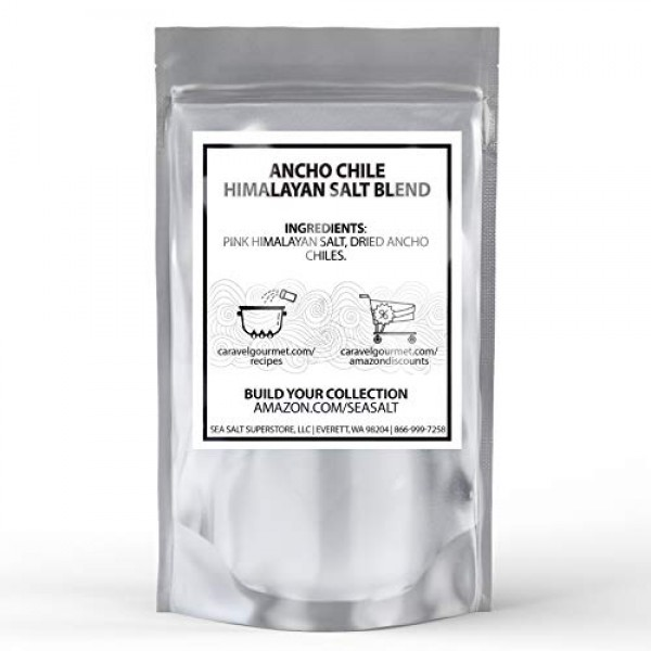 Ancho Chile Himalayan Pink Salt Blend - Dried Poblano Peppers fo...
