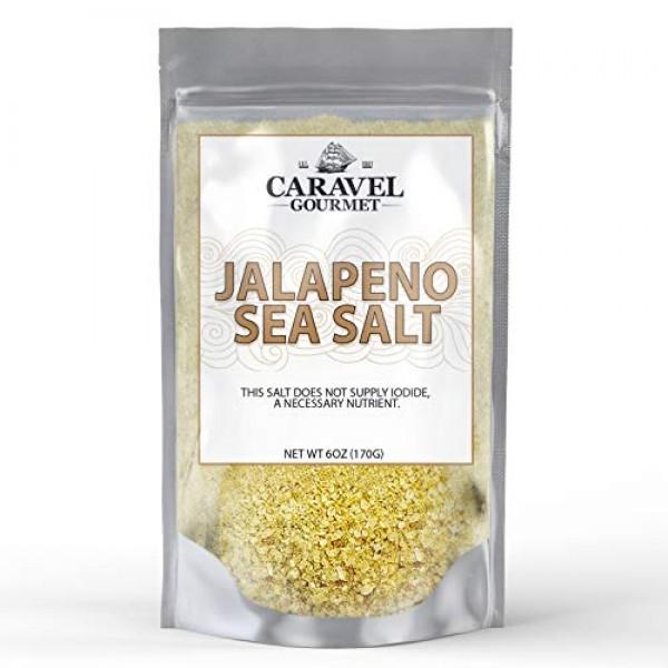 Gourmet Jalapeno Sea Salt 6 Ounce Refill Pouch - All-Natural Sal...