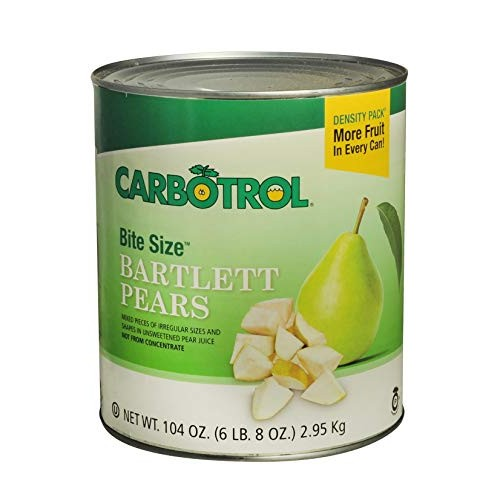 Carbotrol #10 Juice Packed Canned Fruit, Bite Size Pears 6 - 10...