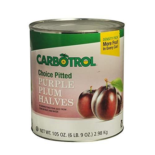 Carbotrol #10 Juice Packed Canned Fruit, Plum Halves 1 - 105oz ...