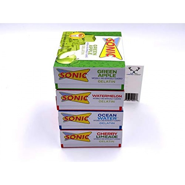 Sonic Gelatin Jello Shot Bundle. Cherry Limeade, Ocean Water, Wa...