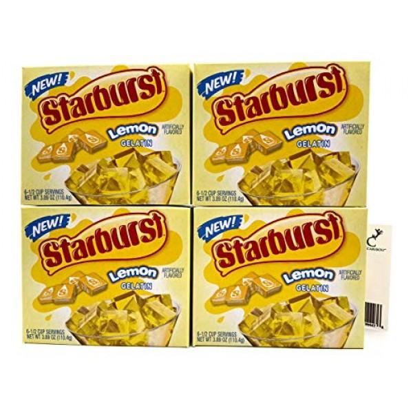 Starburst Jello Shot Bundle: Starburst Lemon Jello Gelatin Four...
