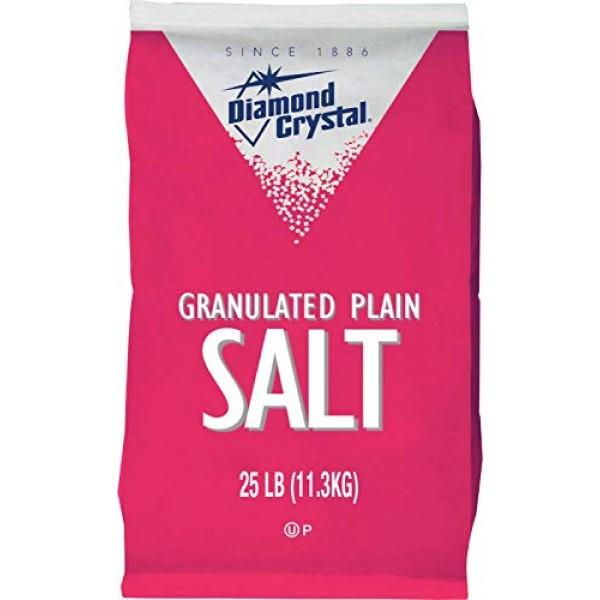 Diamond Crystal Plain Granulated Salt - 25 lb. bag