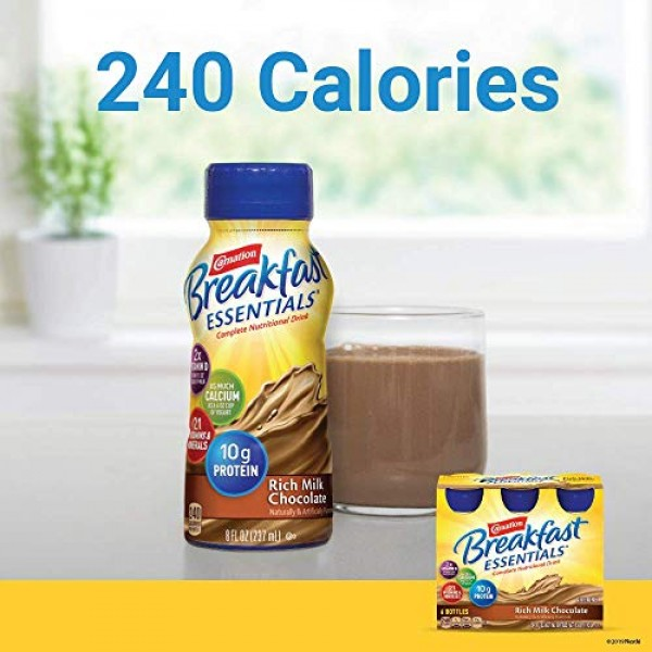 Carnation Breakfast Essentials Ready-to-Drink, Rich Milk Chocola...