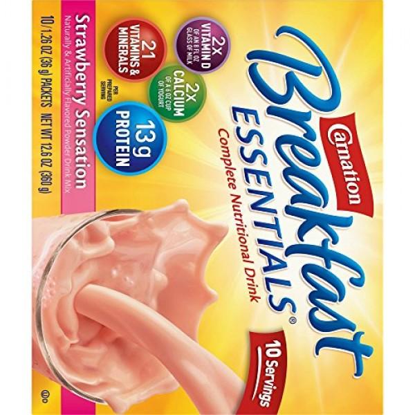 Carnation Breakfast Essentials Strawberry Sensation Complete Nut...