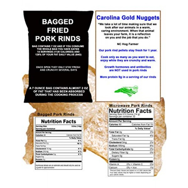 Carolina Gold Nuggets Microwave Pork Puffies Bake-N-Puffs, Origi...
