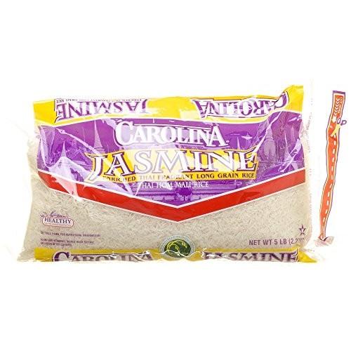 Carolina Jasmine Thai Hom Mali Rice Gluten Free 80 Oz. Pack Of 3.