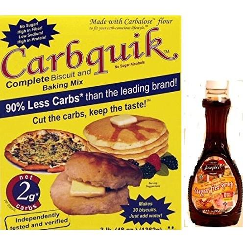 Carbquik Baking Mix and Josephs Sugar Free Maple Syrup Bundle f...