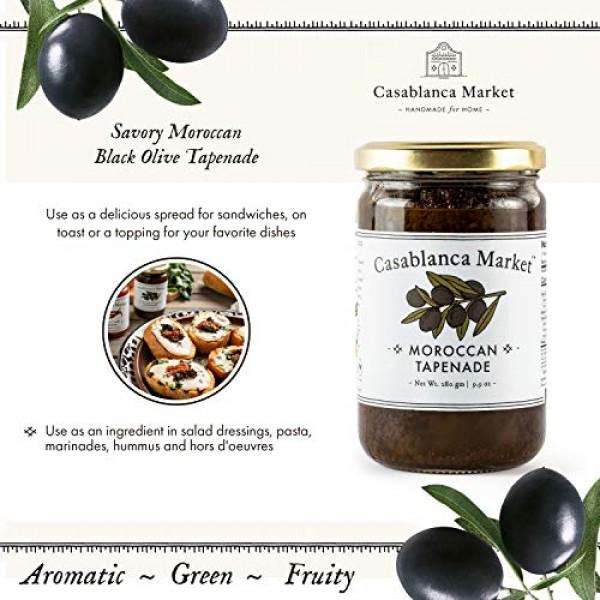 Casablanca Market Black Olive Tapenade Spread All Natural Tapena...