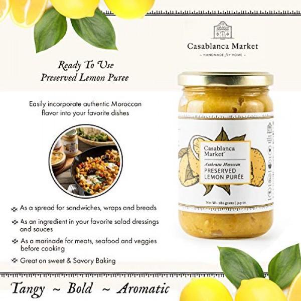 Casablanca Market Moroccan Preserved Lemons spread All Natural A...