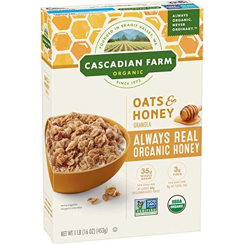 Cascadian Farm Organic Granola, Oats and Honey Cereal, 16 oz (Pa...